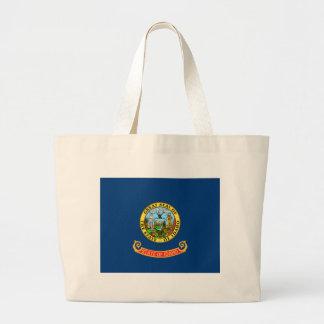 Flag_of_Idaho Large Tote Bag