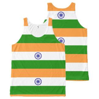 Flag of India - तिरंगा - भारत का ध्वज All-Over Print Singlet