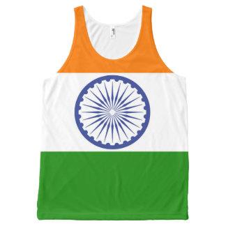 Flag of India Ashoka Chakra All-Over Print Singlet