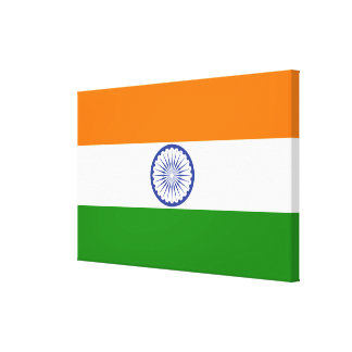 Flag of India Ashoka Chakra Canvas Print