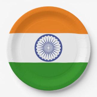 Flag of India Ashoka Chakra Paper Plate