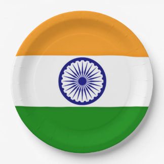 Flag of India Paper Plate