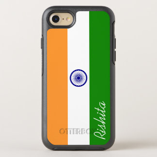 Flag of India with Monogram OtterBox Symmetry iPhone 7 Case