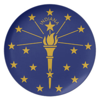 Flag Of Indiana Plate