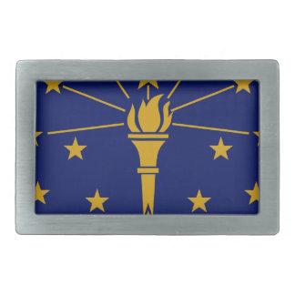Flag Of Indiana Rectangular Belt Buckle