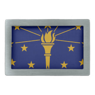 Flag Of Indiana Rectangular Belt Buckles