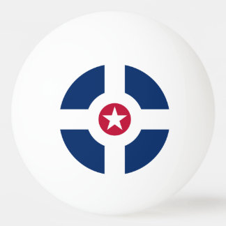 Flag of Indianapolis, Indiana Ping Pong Ball