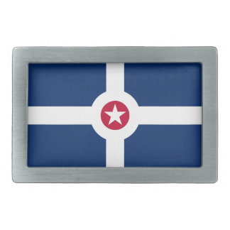 Flag of Indianapolis, Indiana Rectangular Belt Buckle