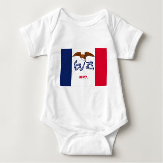 Flag Of Iowa Baby Bodysuit