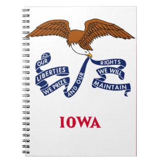 Flag Of Iowa Notebooks