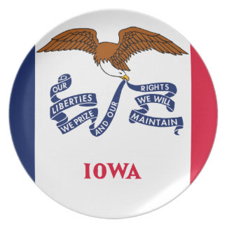 Flag Of Iowa Plate