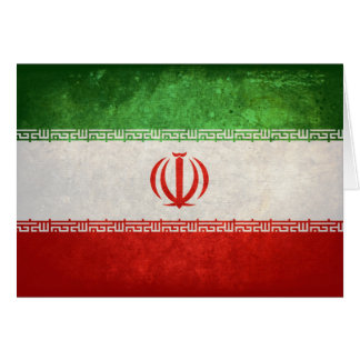 Flag of Iran Note Card