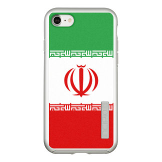 Flag of Iran Silver iPhone Case