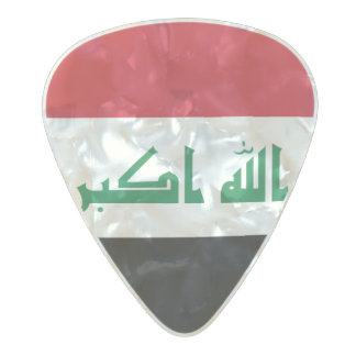 Flag of Iraq Guitar Picks Pearl Celluloid Guitar Pick