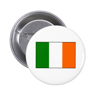 Flag of Ireland 6 Cm Round Badge