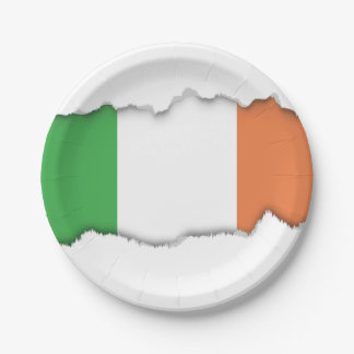 Flag of Ireland 7 Inch Paper Plate