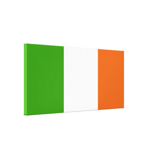 Flag of Ireland Stretched Canvas Print