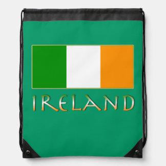 Flag of Ireland Drawstring Bag