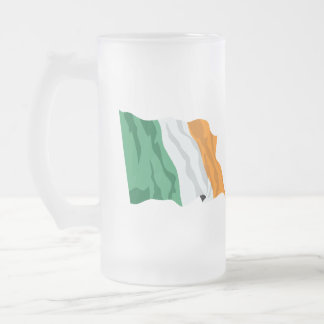 Flag of Ireland Frosted Glass Stein Mugs