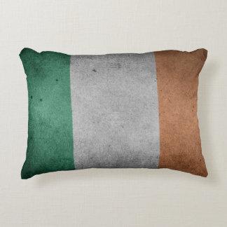 Flag of Ireland Grunge Style Decorative Cushion