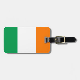 Flag of Ireland Luggage Tag w/ leather strap