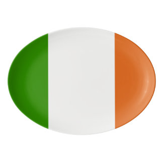 Flag of Ireland Oval Porcelain Serving Platter