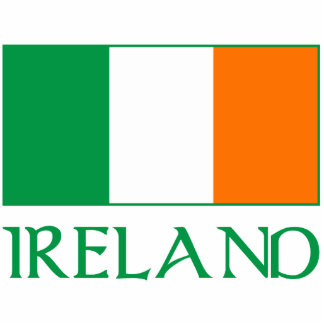 Flag of Ireland Photo Sculpture Key Ring