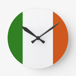 Flag of Ireland Round Clock