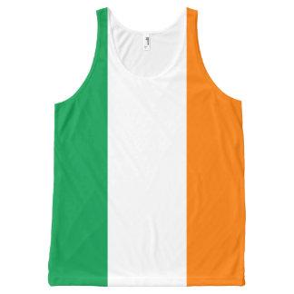 Flag of Ireland Shamrock All-Over Print Singlet
