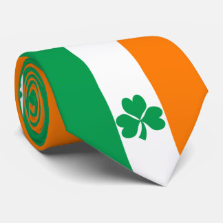 Flag of Ireland Shamrock Tie