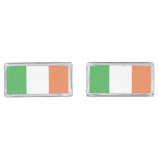 Flag of Ireland Silver Finish Cufflinks
