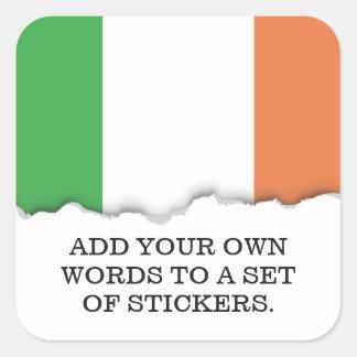 Flag of Ireland Square Sticker