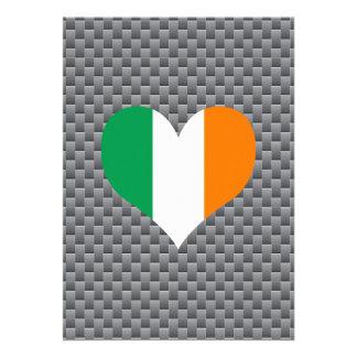 "Flag of Irish on metal background 5"" X 7"" Invitation Card"