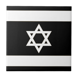 Flag of Israel - דגל ישראל - ישראלדיקע פאן Small Square Tile