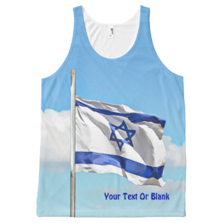 Flag Of Israel All-Over Print Singlet