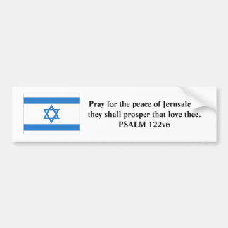 Flag of Israel Bumper Sticker