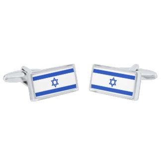 Flag of Israel Cufflinks Silver Finish Cufflinks