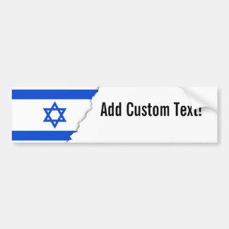 Flag of Israeli Bumper Sticker