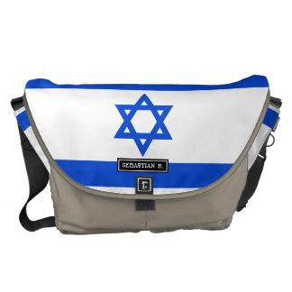 Flag of Israeli Messenger Bag