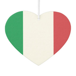 Flag of Italian on metal background Car Air Freshener