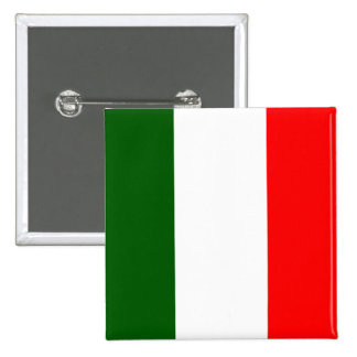 Flag of Italy 15 Cm Square Badge