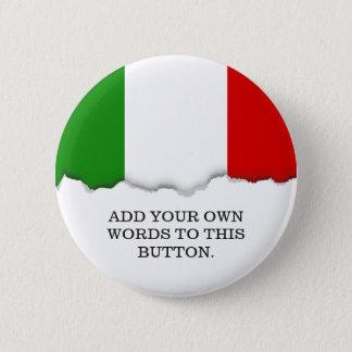 Flag of Italy 6 Cm Round Badge