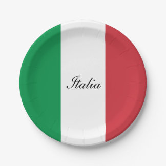 Flag of Italy 7 Inch Paper Plate