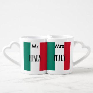 Flag of Italy Coffee Mug Set