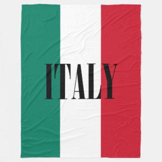 Flag of Italy Fleece Blanket