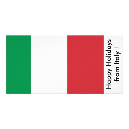 Flag of Italy, Happy Holidays from Italy Photo Greeting Card