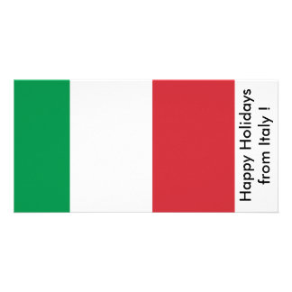 Flag of Italy, Happy Holidays from Italy Picture Card