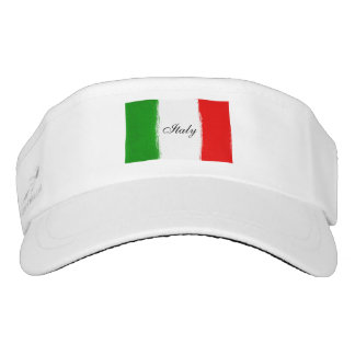 Flag of Italy. i love Italy. text. Visor