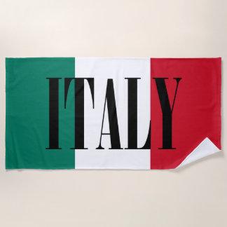Flag of Italy Italia Italian Beach Towel