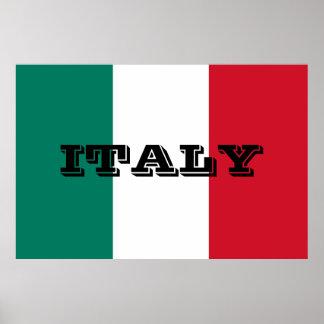 Flag of Italy Italia Italian Poster